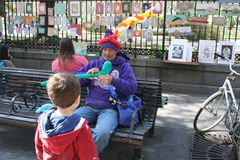 Balloon artist  in the French Quarter Royalty Free Stock Photo