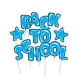Balloon back to school Royalty Free Stock Photo