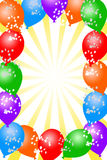 Balloon background. Festive and colorful balloon background with copy space to the middle of the image Royalty Free Stock Photography