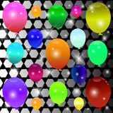 Balloon background. Balloon Celebration Group Event Festival Colour Fun Party Gely Birthday vector illustration