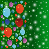 Balloon background. Balloon Celebration Group Event Festival Colour Fun Party Gely Birthday royalty free illustration