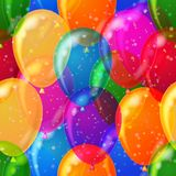 Balloon background seamless Stock Images