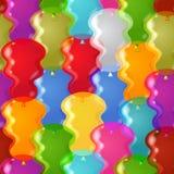 Balloon background seamless Stock Photos