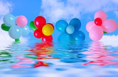 Balloon on background sky and water Stock Photography
