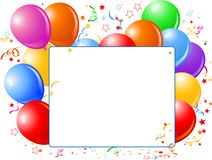 Balloon Banner Royalty Free Stock Images
