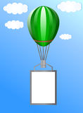 Balloon with a banner Royalty Free Stock Image