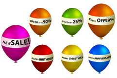 Balloon banner. In white background Stock Photography