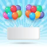 Balloon and banner Royalty Free Stock Photos