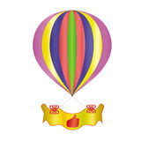 Balloon with a banner Stock Photo