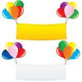 Balloon Banner. Festive Decoration Birthday Design Royalty Free Stock Images