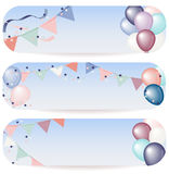 Balloon banner illustration Royalty Free Stock Images