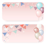 Balloon banner illustration Stock Photos