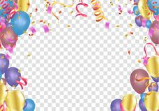 Free Balloon Banner Template, Abstract Colorful Celebration Backgroun Stock Photo - 113281530