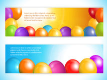 Balloon banners and sky Royalty Free Stock Images