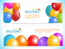 Balloon banners  Stock Photo