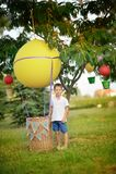 Balloon with a basket Royalty Free Stock Photos