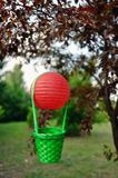 Balloon with a basket Stock Image