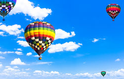 Balloon Beautiful colorful hot air balloon flying in the vast sk Royalty Free Stock Photos