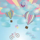 Balloon and bicycle Stock Image
