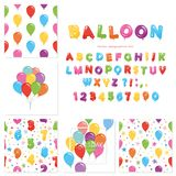 Balloon big set. For birthday and holidays design. Stock Images