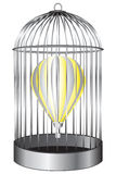 Balloon bird cage. Air balloon in a bird cage. Vector illustration Royalty Free Stock Photo