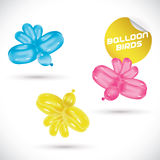Balloon Birds Illustration Royalty Free Stock Photos