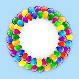 Balloon birthday background Royalty Free Stock Photo