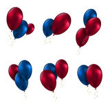 Balloon birthday decoration celebrate party set Stock Image