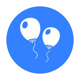 Balloon black icon. Illustration for web and mobile design. Stock Photo
