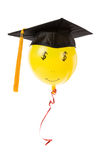 Balloon and Black Mortarboard Royalty Free Stock Photos