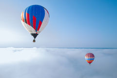 The balloon on the blue sky background Royalty Free Stock Images