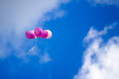 The balloon is blue sky Royalty Free Stock Photos