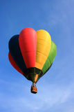 Balloon with blue sky. Colorful hot air balloon with blue sky background Royalty Free Stock Photos