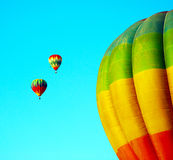 Balloon in the blue sky. Royalty Free Stock Photo