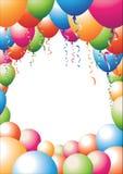 Balloon border Royalty Free Stock Image