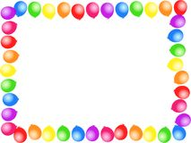 Balloon border vector illustration
