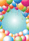 Balloon border with stars Stock Image
