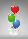 Balloon box Royalty Free Stock Photography