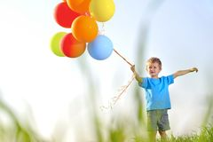 Balloon boy Stock Image