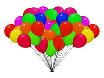 Balloon bunch Stock Photos