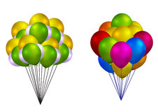 Balloon bunch. In white background Stock Photo