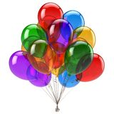 Balloon bunch happy birthday party balloons decoration glossy. Balloon bunch happy birthday party balloons decoration festive colorful translucent glossy Royalty Free Stock Photography