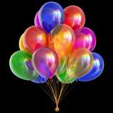 Balloon bunch happy birthday party decoration festive colors. Balloon bunch happy birthday party decoration festive colorful glossy. Anniversary celebration Stock Photos
