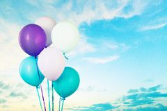 Balloon bunch Stock Images