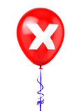 Balloon with Cancel Sign. 3D rendered Balloon with Cancel Sign Royalty Free Stock Photos