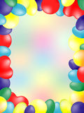 Balloon card Stock Photo