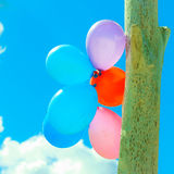Balloon chain in the sky Royalty Free Stock Image
