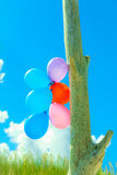 Balloon chain in the sky Stock Photography