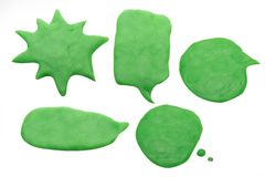 The balloon chat playdough image on white background . Balloon chat playdough image on white background Royalty Free Stock Image