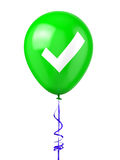 Balloon with Check Mark Royalty Free Stock Photo
